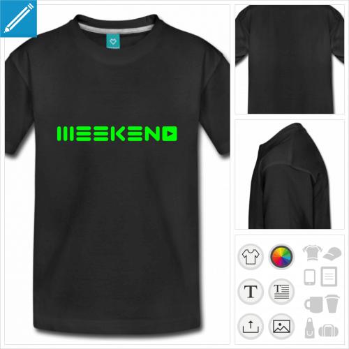 t-shirt basique week-end à créer soi-même