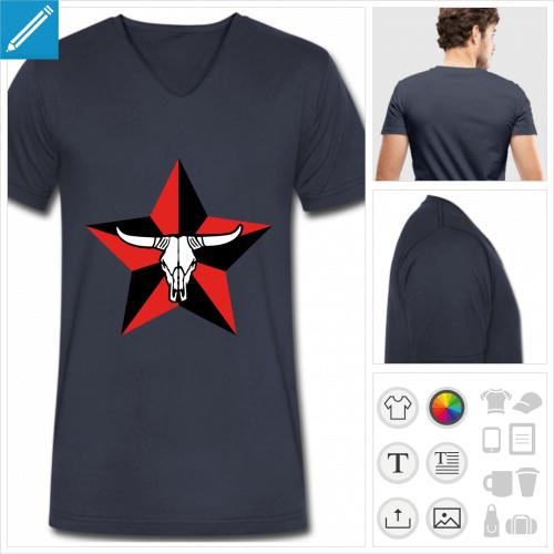 t-shirt homme vache à personnaliser et imprimer en ligne