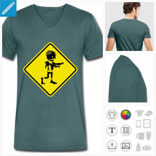 t-shirt pour homme zombie à créer soi-même
