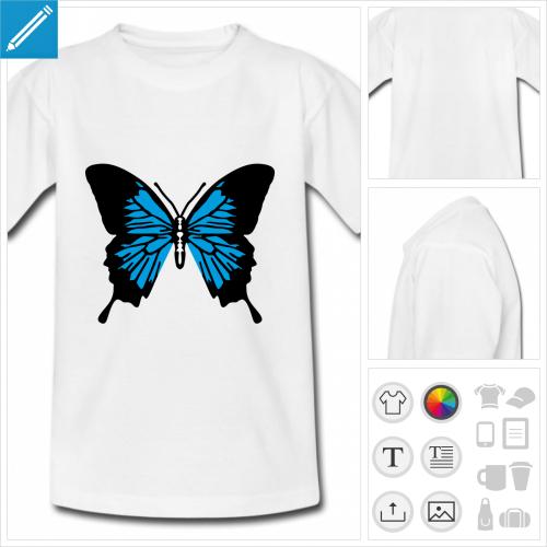 t-shirt pour enfant papillon ailes personnalisable