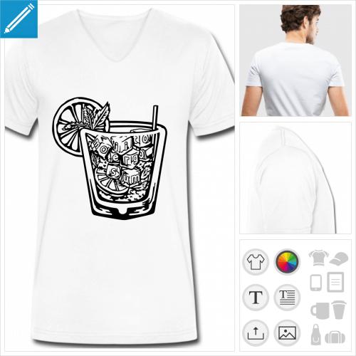 t-shirt boire à personnaliser, impression unique