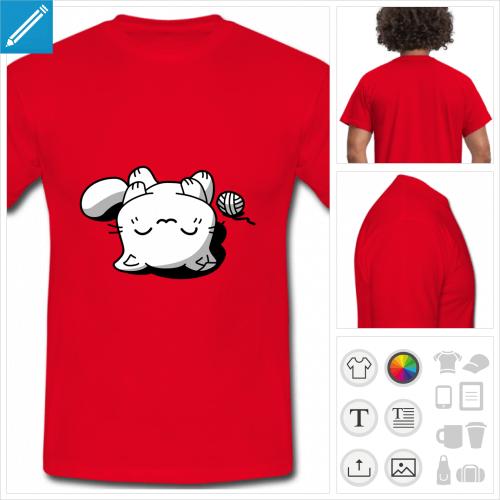 t-shirt chat kawaii à personnaliser et imprimer en ligne