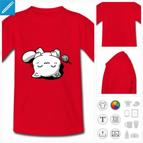 t-shirt enfant chaton à personnaliser en ligne