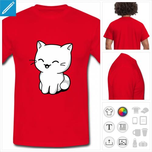 t-shirt basique chaton à personnaliser
