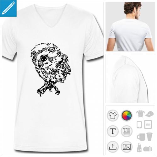 t-shirt bébé hibou à personnaliser et imprimer en ligne