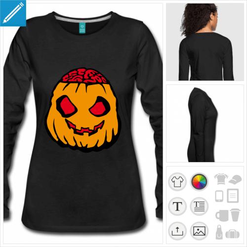 t-shirt citrouille halloween à personnaliser