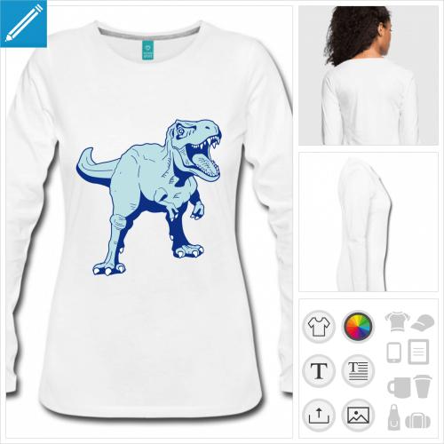t-shirt tyrannosaure à créer soi-même