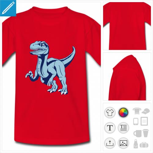 t-shirt dinosaure raptor à personnaliser
