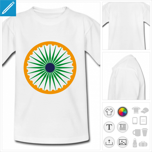 t-shirt simple chakra Inde à personnaliser et imprimer en ligne