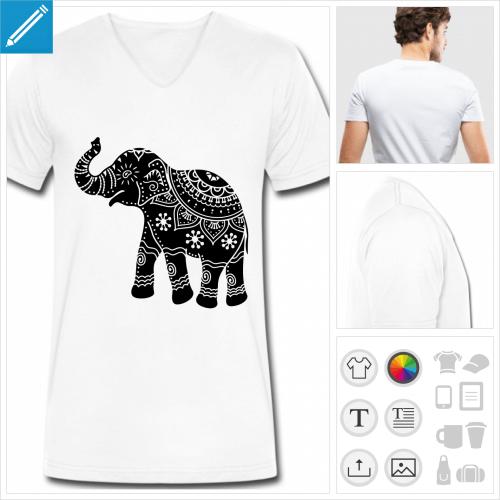 t-shirt éléphant à créer soi-même