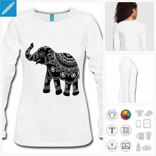 tee-shirt éléphant à personnaliser en ligne