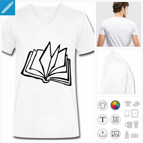 t-shirt simple livre à créer soi-même