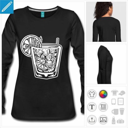 t-shirt femme boire à personnaliser