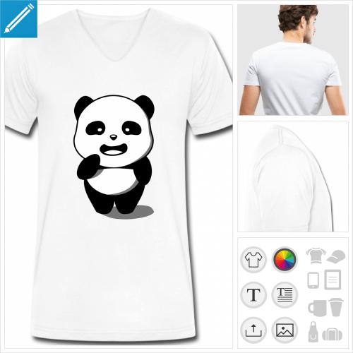 t-shirt simple panda à créer soi-même