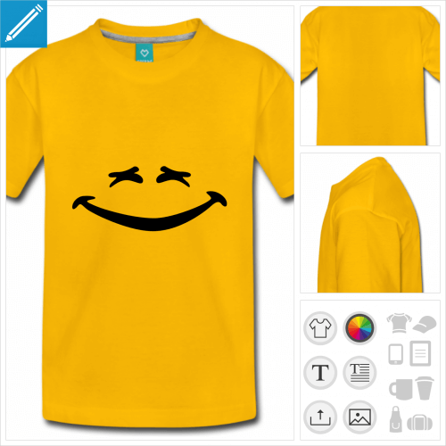 t-shirt simple smiley rire à créer en ligne