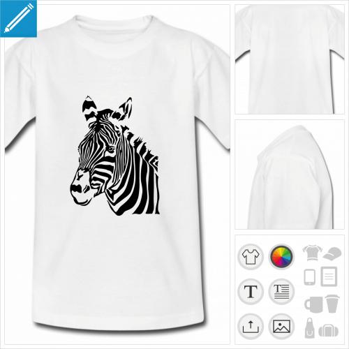 tee-shirt zèbre rayures à imprimer en ligne
