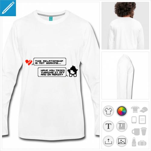 t-shirt homme it crowd à créer en ligne
