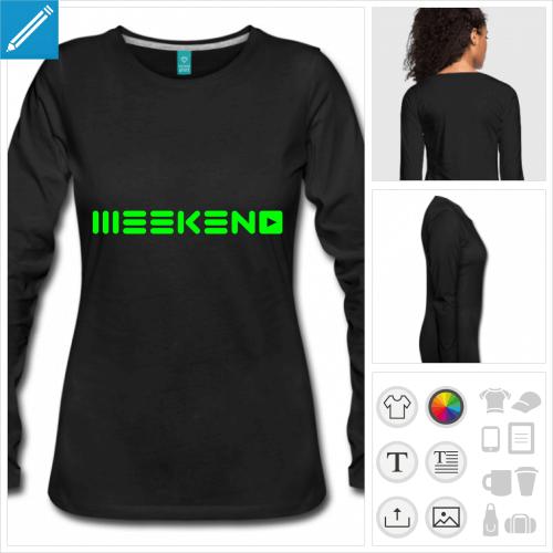 t-shirt femme party à personnaliser et imprimer en ligne
